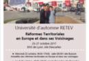 Université d'automne RETEV (25 au 27 octobre 2017 – ENS de Lyon)