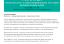 Forum d'innovation « L'habitat intergénérationnel, entre habitat participatif et habitat inclusif »